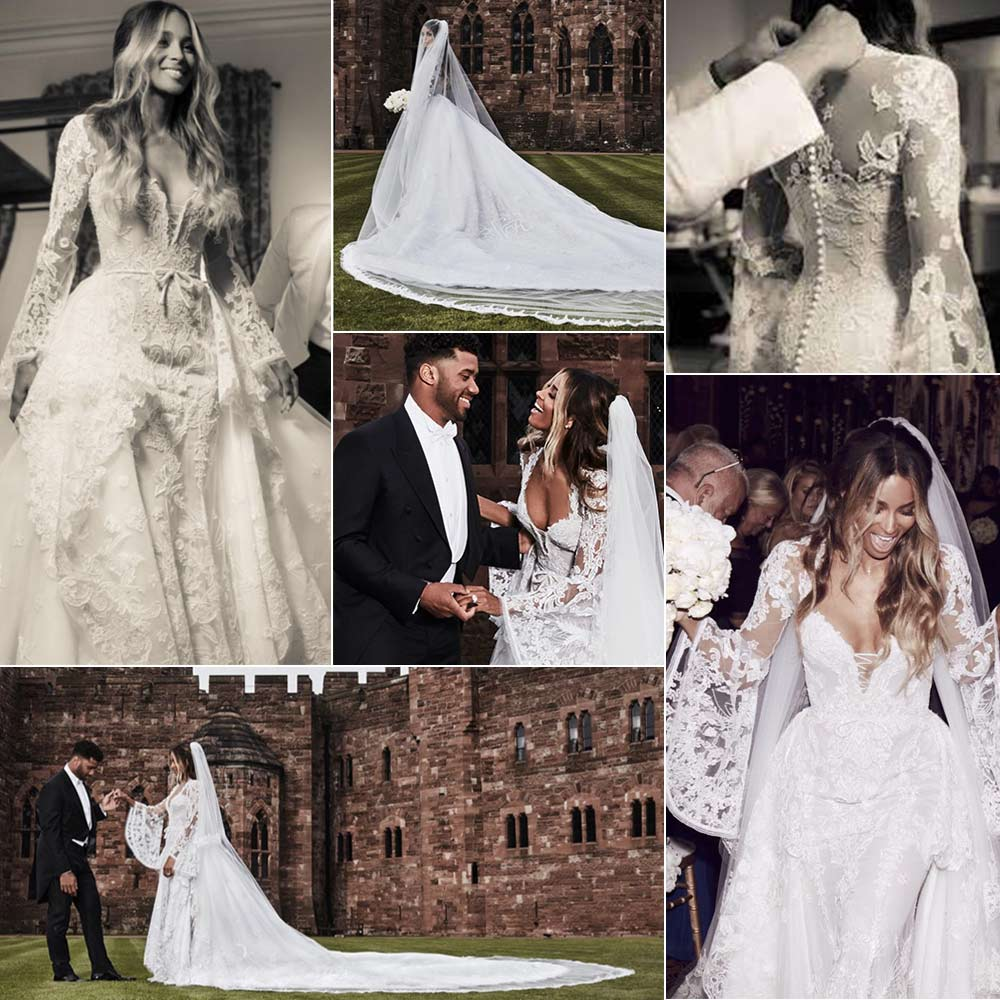 11 Celebrity Wedding Dresses We Fell in Love with During 2016 - Asia ...