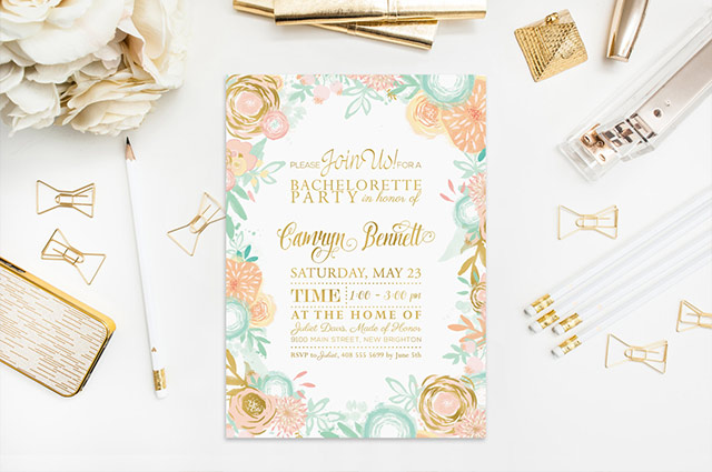 Mint Green And Gold Wedding Invitations: Peach & Mint Wedding Colors: 10 Ideas To Make Your Wedding