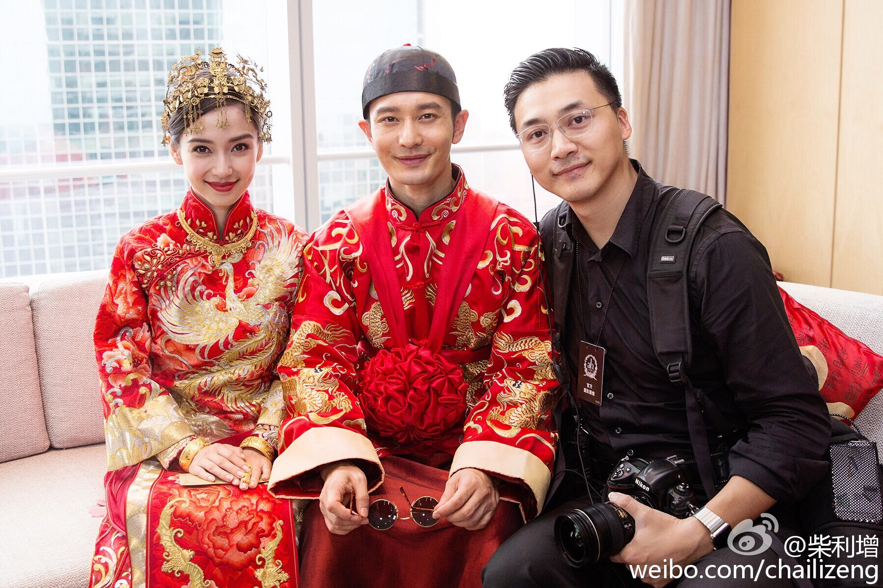 Chinese Model-actress, Angelababy & Actor, Huang Xiaoming ...