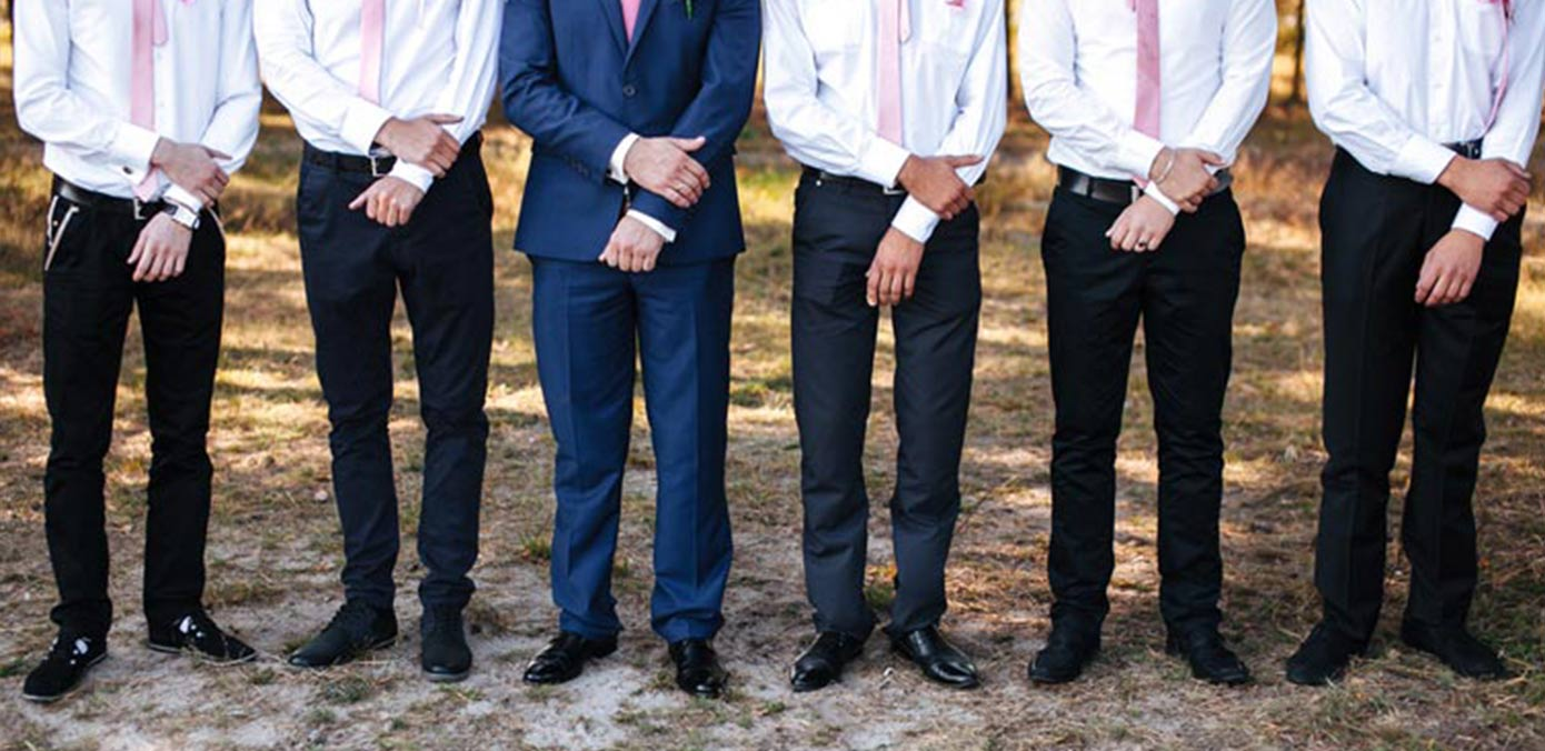 Suit Talk: Difference Between a Groom's Suit and a Groomsmen Suit?