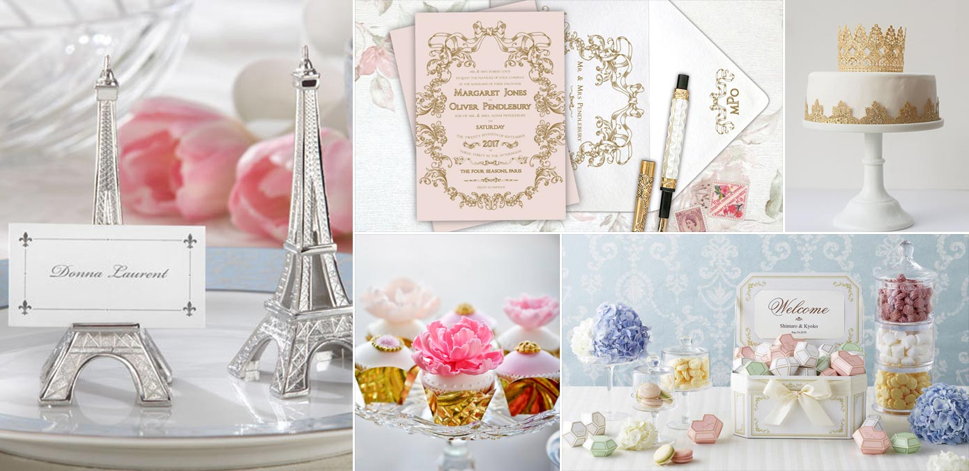Enchanting Parisian Themed Wedding Ornament - Wedding Dress ...