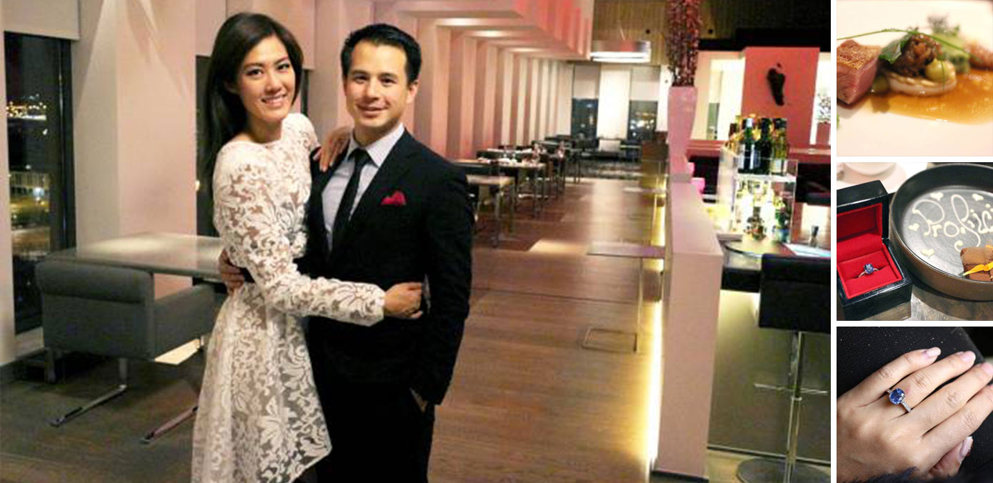 Former Miss Singapore, Valerie & Now Fiancé, Henry's 11 Course Dinner Proposal at 't Zilte