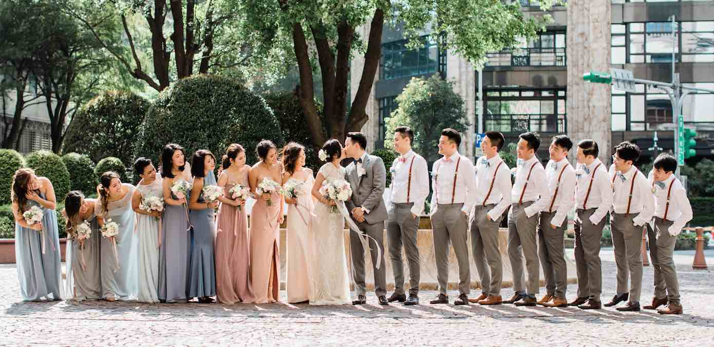 An Ivory Blush & Blue Gray Wedding at Mandarin Oriental Taipei