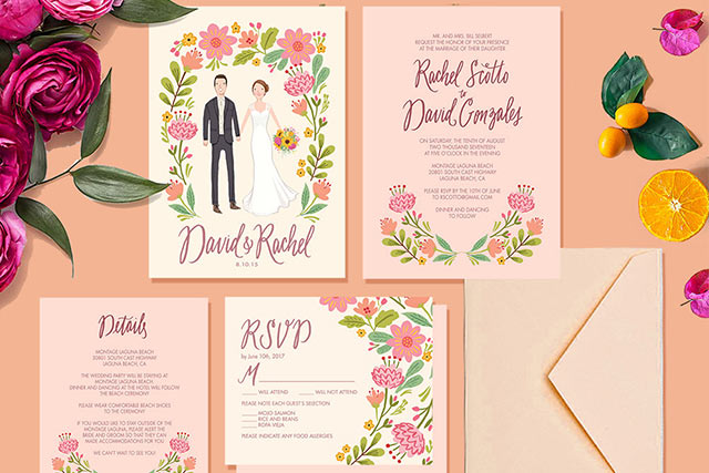 cherrymok-Pretty floral wedding invitation sets-3