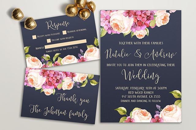 cherrymok-Pretty floral wedding invitation sets-4