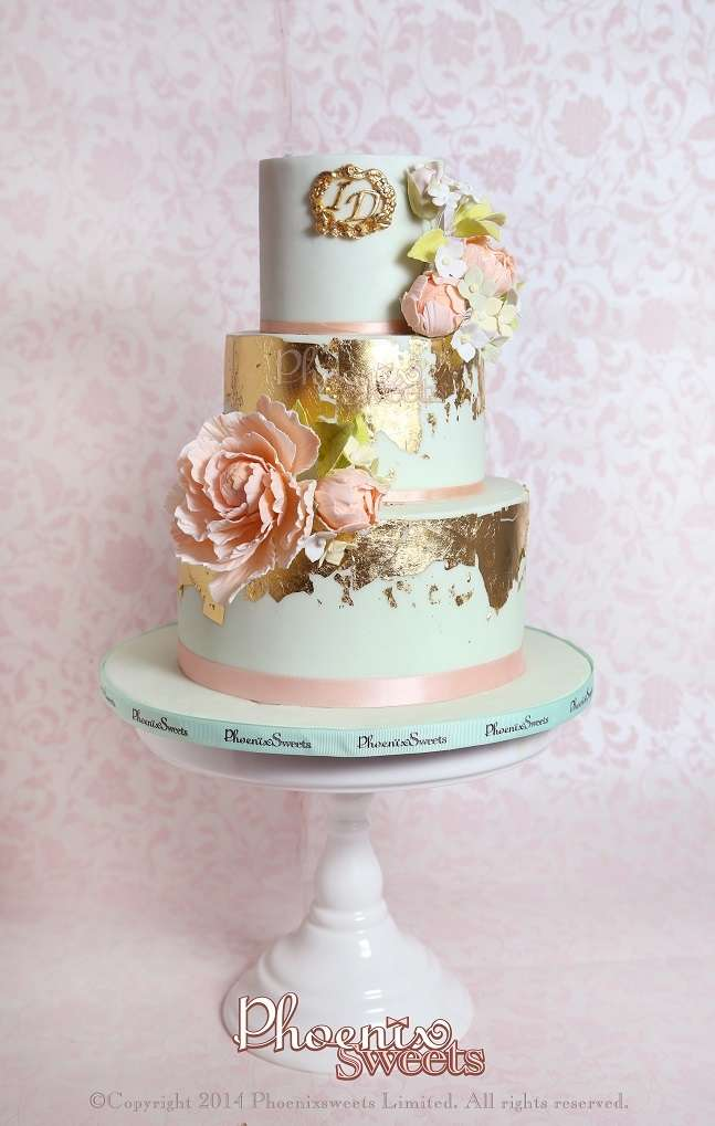 light blue and gold wedding cakes wedding inspiration boards 16847