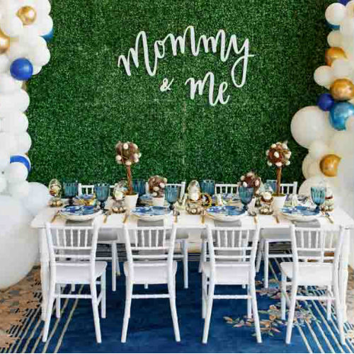 We're Obsessing Over This Navy Blue & Gold Mother's Day Styled Photoshoot!