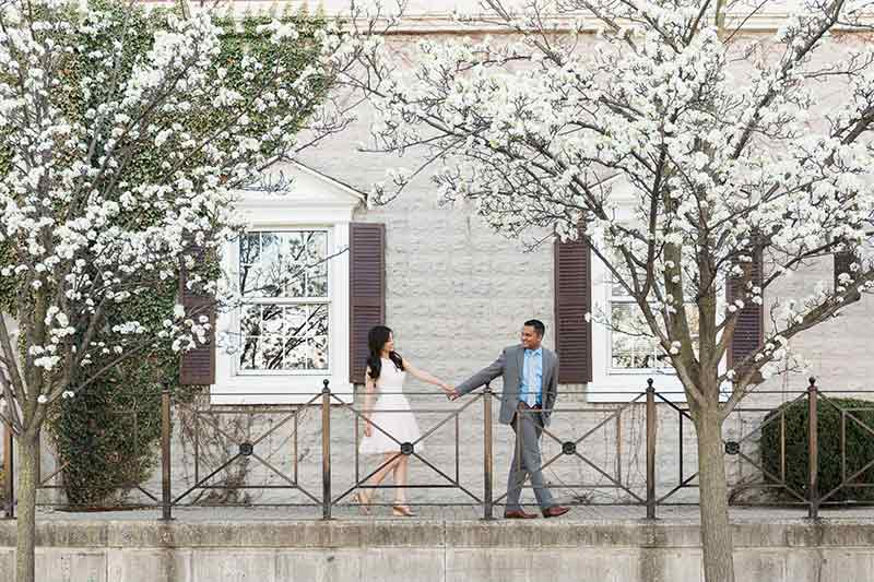 cherry blossom prewedding engagement photoshoot timing planning booking 20