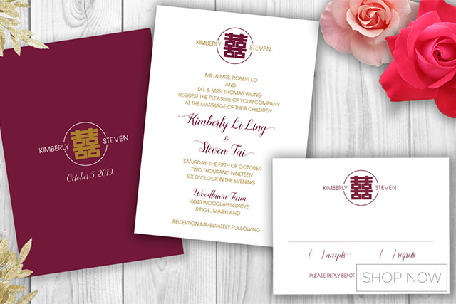MustKnow Etiquette on Preparing Your Chinese Wedding Invitations – Chinese Wedding Invitation Cards