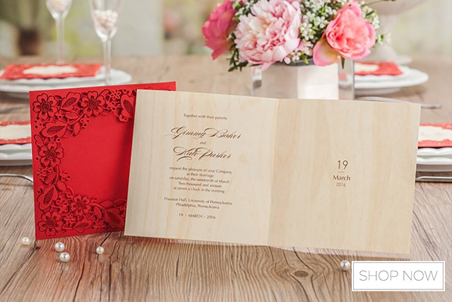 Super Must-Know Etiquette on Preparing Your Chinese Wedding Invitations  ZM47