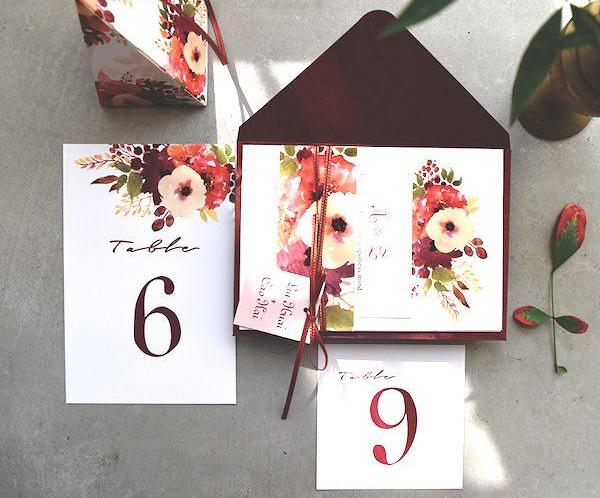 17 things you need to know when attending a filipino wedding asia burgundy vintage wedding invites 1024x10242x stopboris Image collections