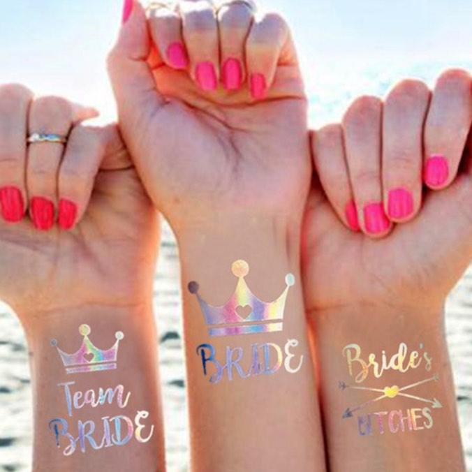 Where to Buy Bachelorette Party Tattoos & 5 Creative Ways to Add Them Into Your #BridesmaidsSquad