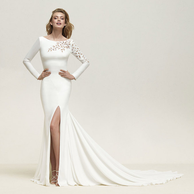 Pronovias Wedding Dresses: Intricate Patterns & Overlaying Illusions