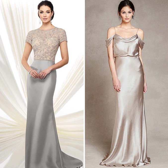 19 Silver Colored Wedding Dresses That Left Us Breathless