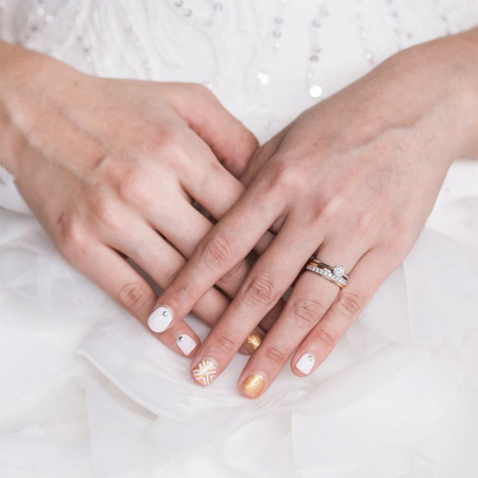 11 Bridal Nail Designs on Instagram We\'re Obsessing Over Right Now ...