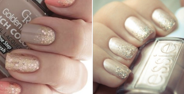 Must Try Bridal Nail Trends 2016 Glitter Nails