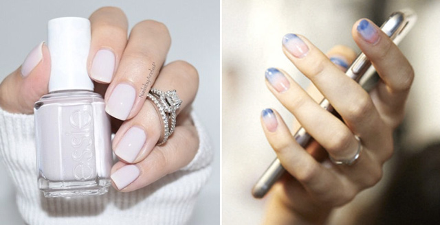 must try bridal nail trends 2016 nude and color of the year