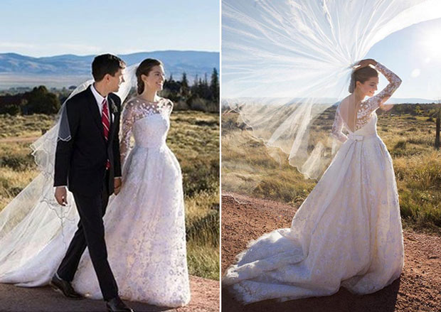 Oscar de la renta celebrity weddings