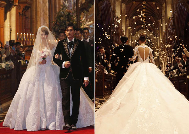 12 Stunning Celebrity Wedding Gowns of 2015 - Asia Wedding Network