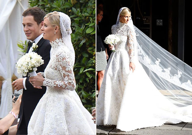 Celebrity wedding dresses with veil wedding dresses dressesss for Celebrity wedding guest dresses