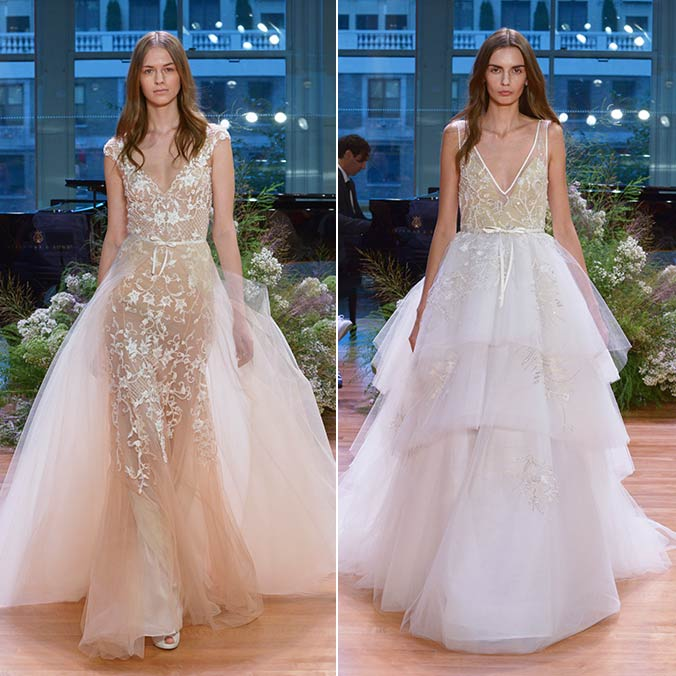 Monique Lhuillier Draws Inspiration from the '90's for Her 2017 Fall Wedding Dress Collection