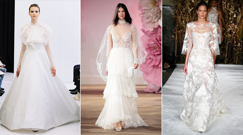New York Bridal Fashion Week 2017 Spring Trends Capes 1