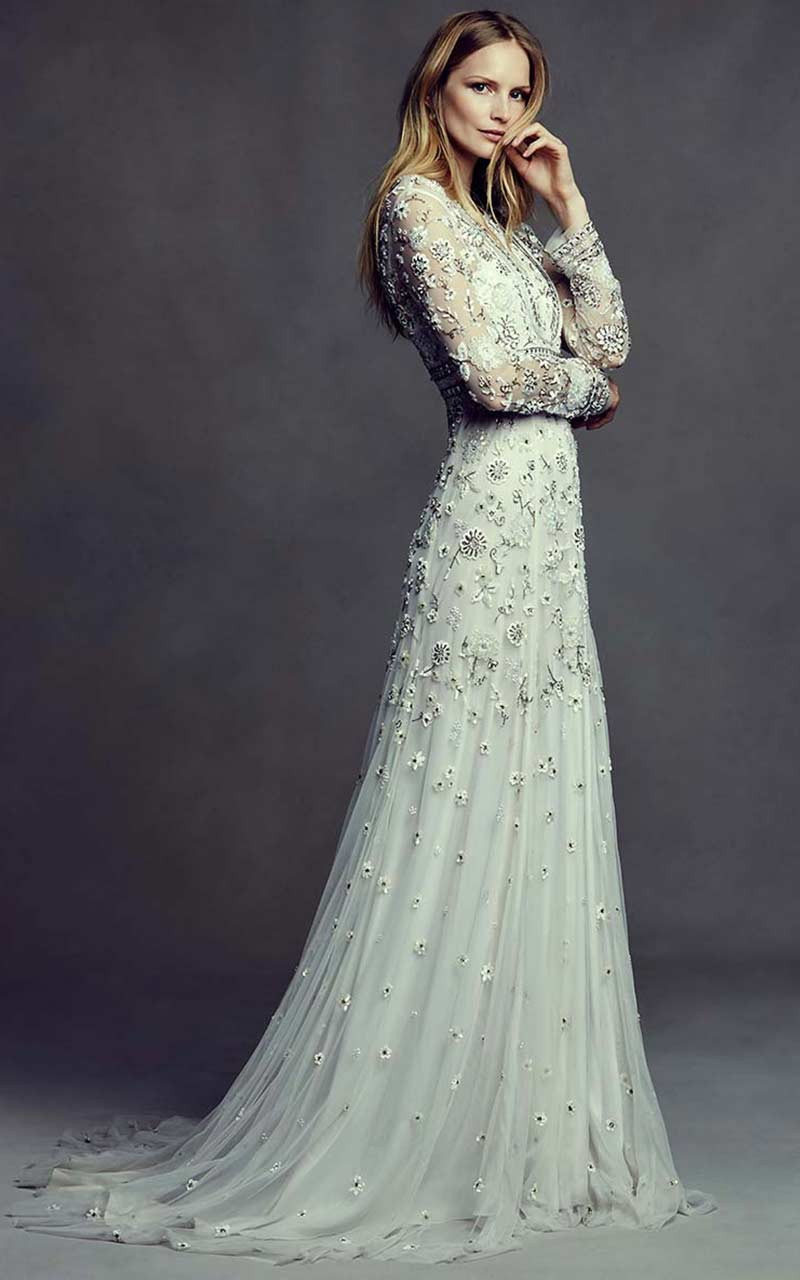 19 silver colored wedding dresses that left us breathless asia bhldn junglespirit Gallery