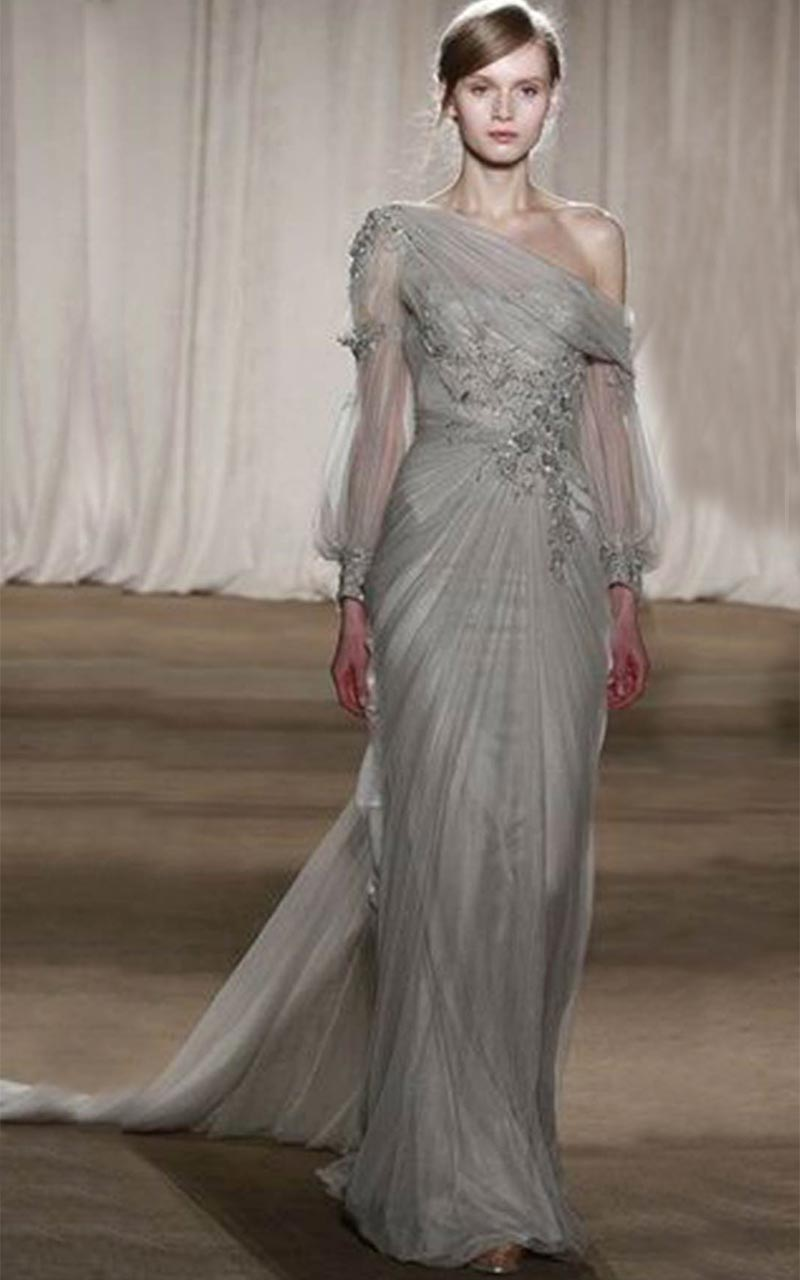 19 silver colored wedding dresses that left us breathless for International wedding dress designers