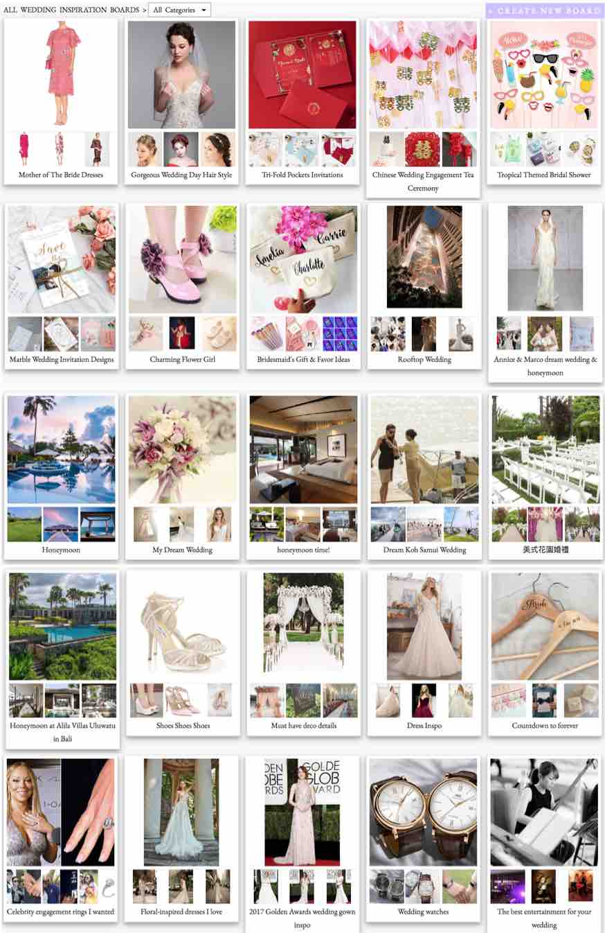 Asia Wedding Network Inspiration Board