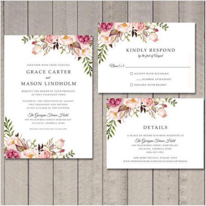 Invitations-$450 USD ++ Simple Love Invites - 'Main Invitation, RSVP Card, & More' Design Package (Unlimited Revisions, Includes Printing)