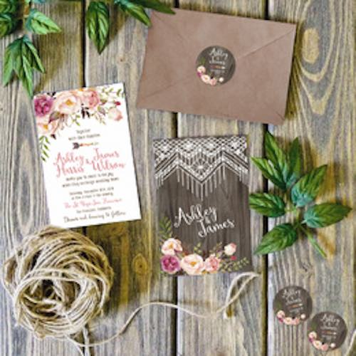 $120 USD ++ Simple Love Invites - 'Main Invitation, RSVP Card, & More' Design Package (5 Revisions)-Invitations--