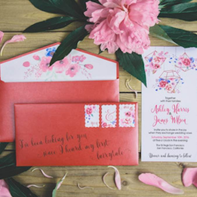 $250 USD ++ Simple Love Invites - 'Main Invitation, RSVP Card, & More' Design Package  (Unlimited Revisions)-Invitations--