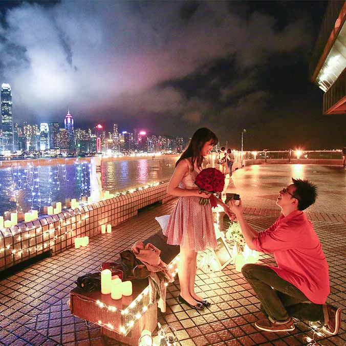 Johnny & Serena's Victoria Harbour Proposal
