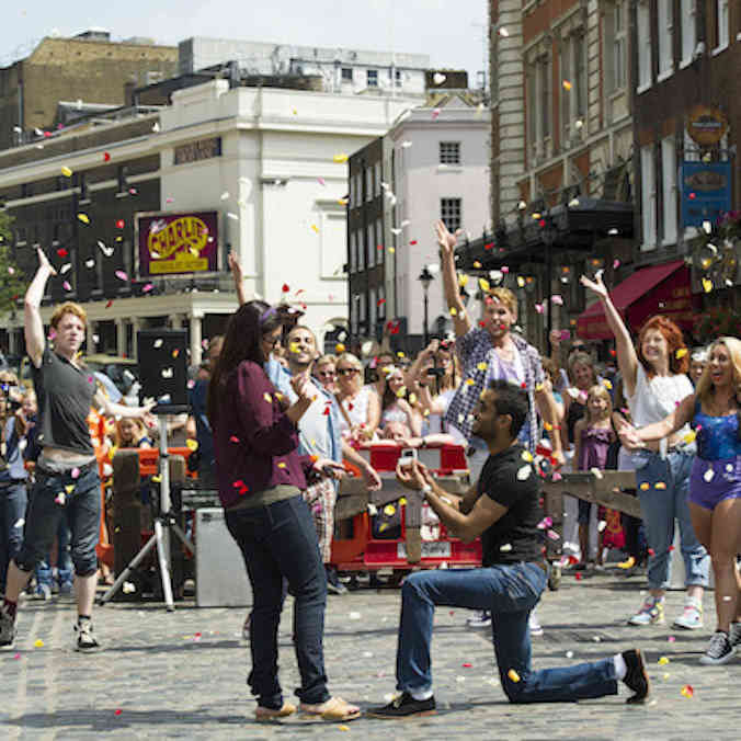 Soma & Hasan's Covent Garden Flash Mob Proposal