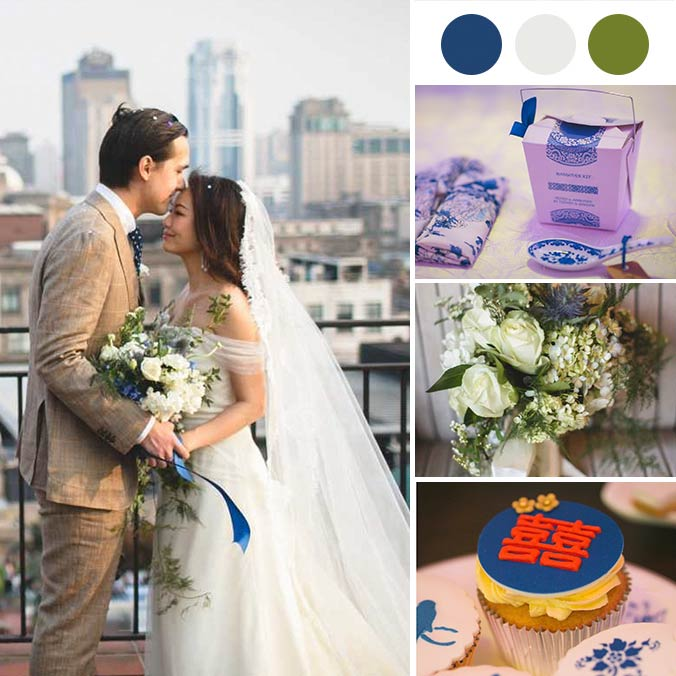 A Charming City Wedding Infused with Old Shanghai Glamour