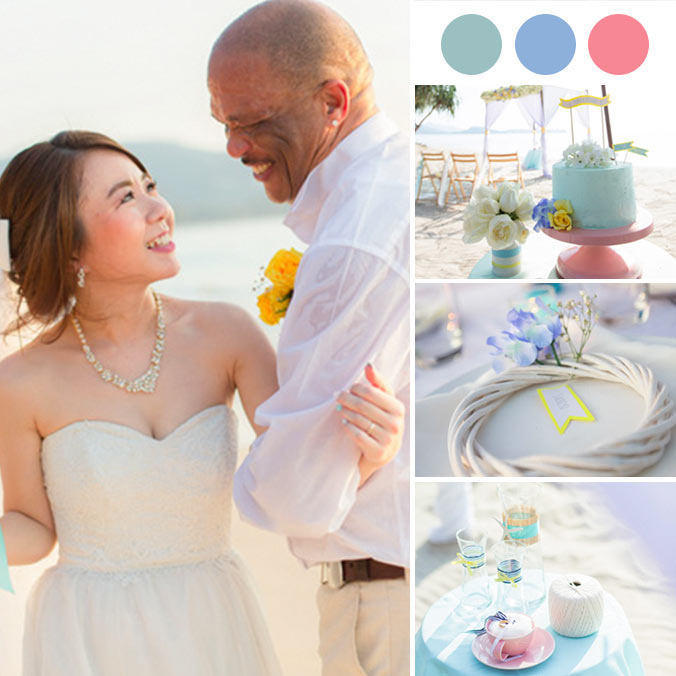A 'Kawaii' Inspired Wedding With Pastel Colors and a Nautical Touch