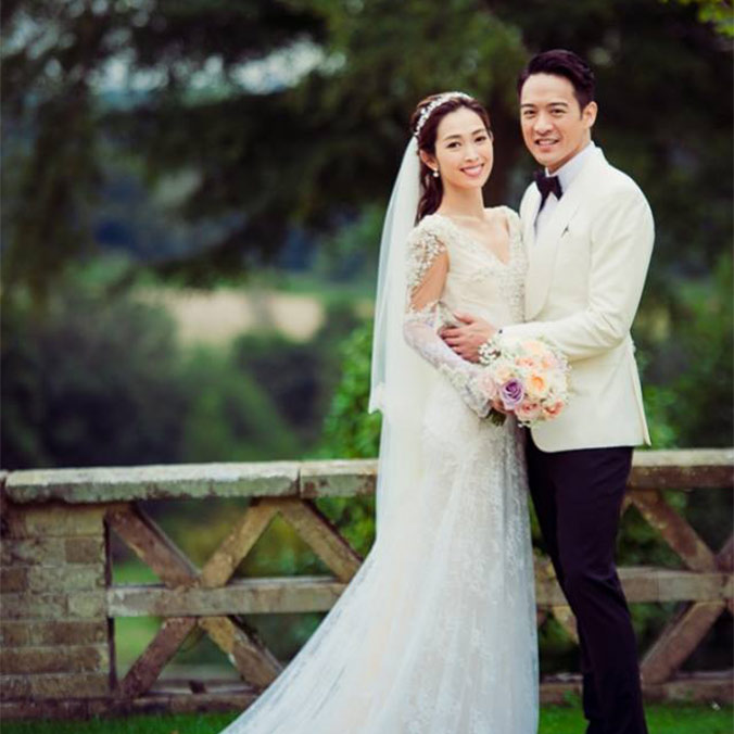 Hong Kong Actress, Sarah Song, & Actor, Jason Chan at Buxted Park Hotel, East Sussex