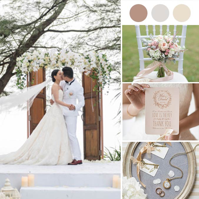 A European Vintage Themed Chinese Wedding in Tropical Phuket