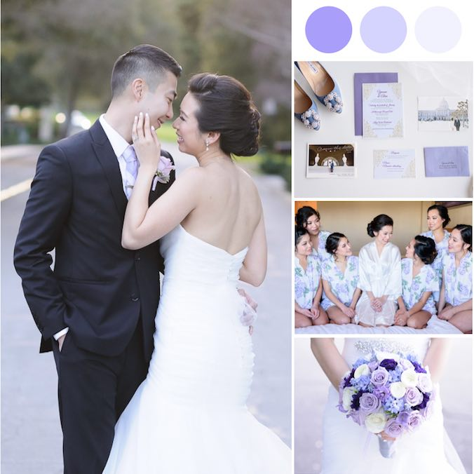 These High School Sweethearts Had the Prettiest Lavender-Loving Country Club Wedding