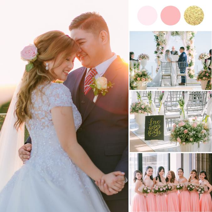 A 'Planned to Perfection' Peach & Gold Wedding - That Involved 39 Vendor Bookings!