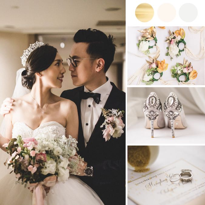 This Gold & Cream White Classic Ballroom Wedding at Grand Hyatt Taipei is Perfection!
