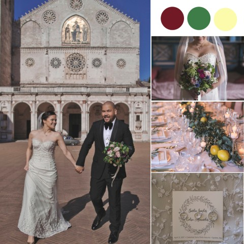 An Italian Villa Wedding with Refreshing Olive Trees & Lemon Decor [Villa Pianciani]