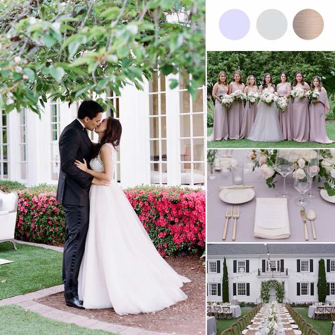 A Classic Blush Pink + White + Gold Wedding That Took Place At a Historical American Landmark