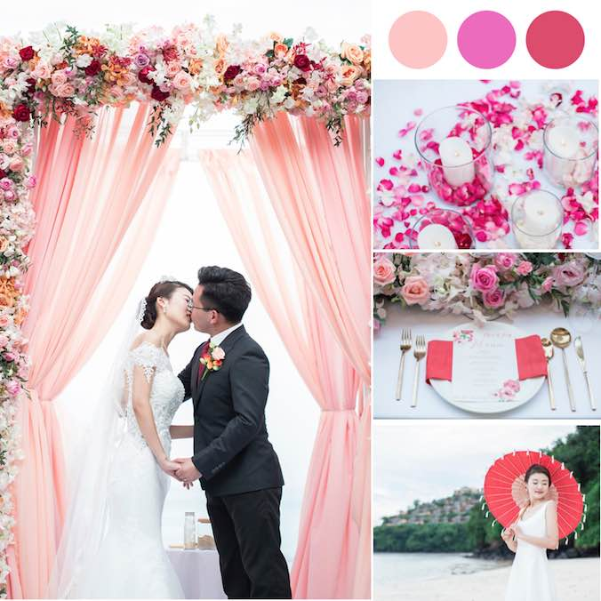 A Bright + Modern Phuket Destination Wedding That Cleverly Kept Traditional Chinese Elements