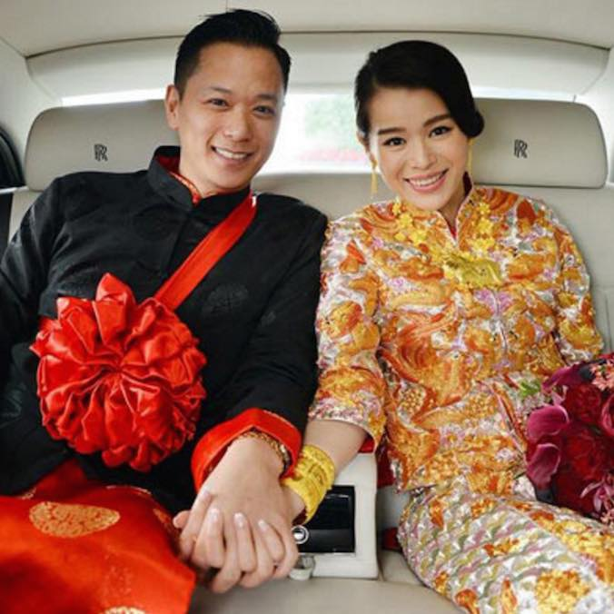Hong Kong Actress, Myolie Wu & Philip Lee at the Ritz Carlton, Hong Kong