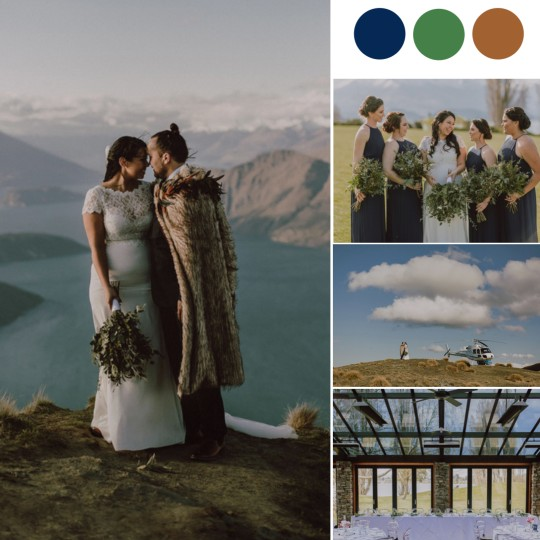 This New Zealand Wedding Had a Helicopter Whisk Away the Bride & Groom! [Edgewater Hotel Wanaka]