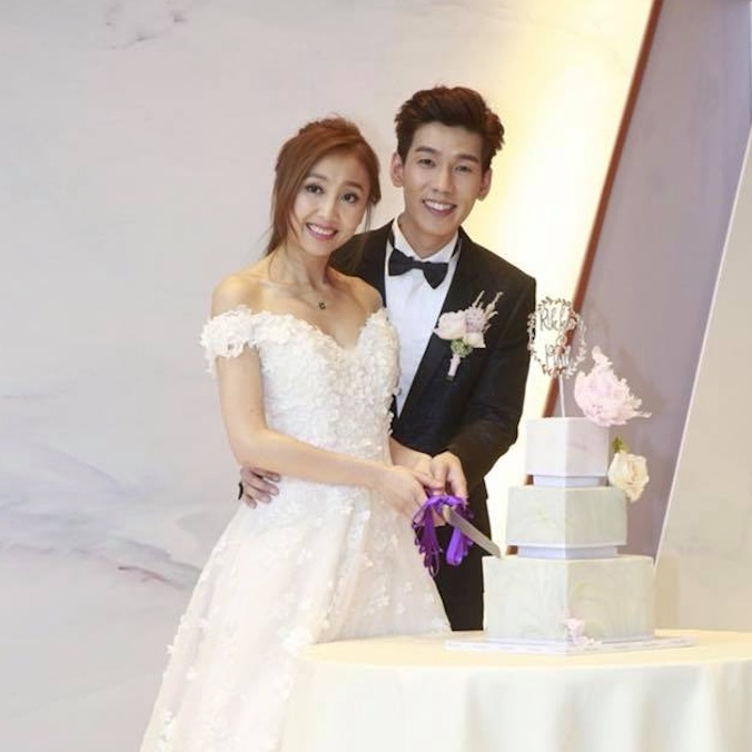 Hong Kong Singer, Phil Lam and TV Anchor, Rikko Lee's Geometric, Marble-Themed, Rose-Gold Wedding at W Hong Kong