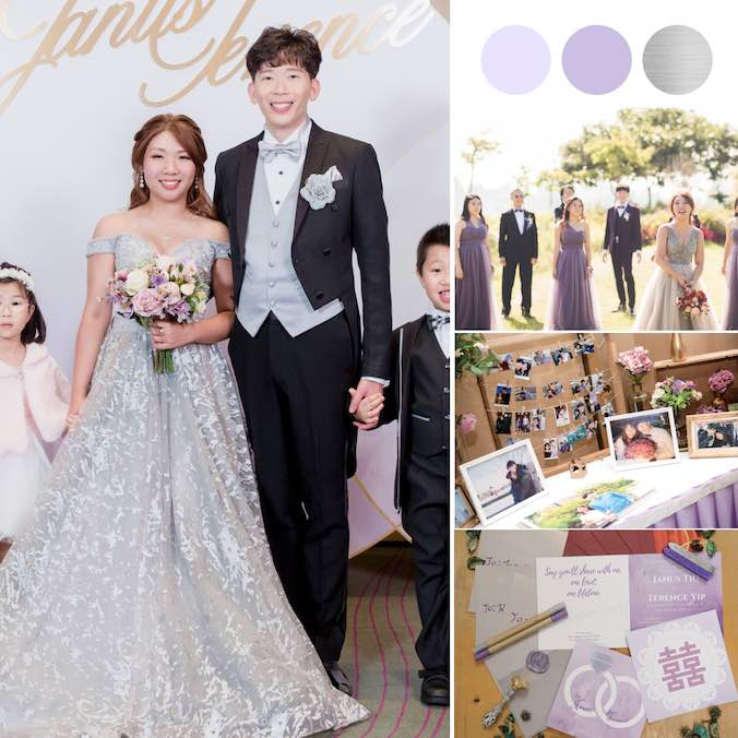 This Columnist Married One Of Her Readers in a Purple Themed W Hong Kong Wedding Banquet