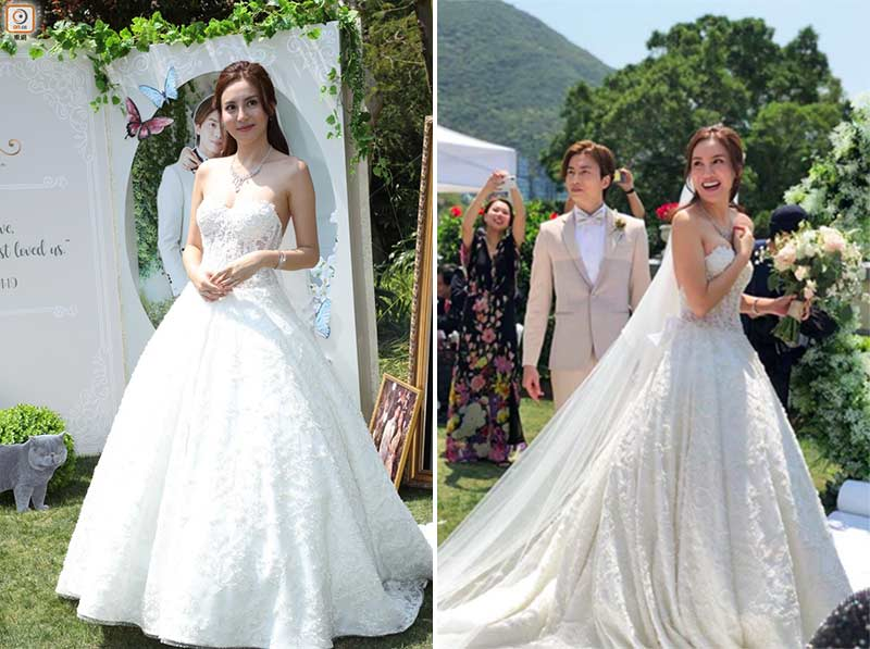 ava liu adason lo hong kong verandah repulse bay outdoor wedding dress bridal gown 11