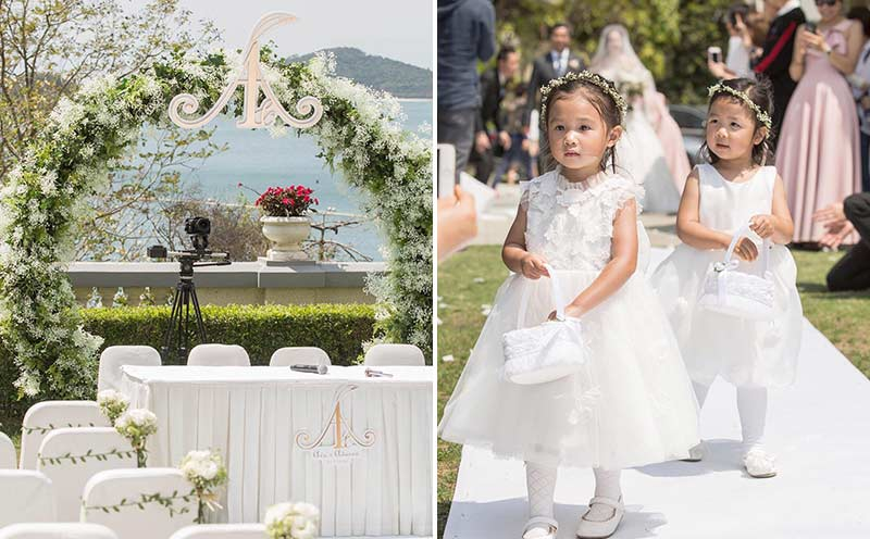 ava liu adason lo hong kong verandah repulse bay outdoor wedding florist